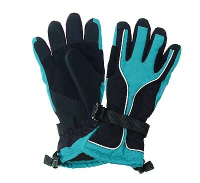(Medium, Blue) - Ovation Extreamer Snow Gloves- Unisex. Free Shipping