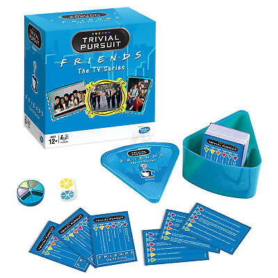 Trivial Pursuit Friends TV Show Quick Play Bite Size Travel Wedge Game
