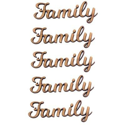 Hope Word Craft Shape 2mm MDF Wood Joined up lettering Various Sizes script