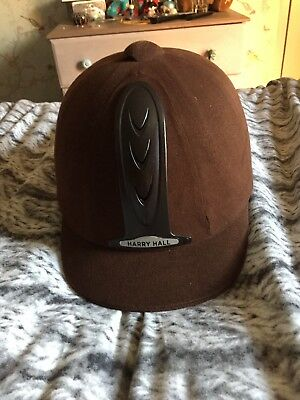 Brown harry hall legend riding hat