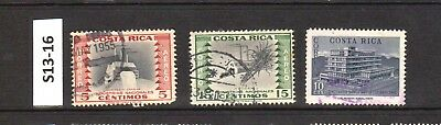 Costa Rica - Stamps From An Old Collection (S13-16)