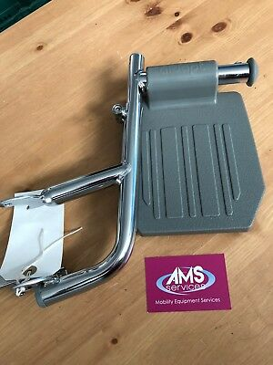 Aidapt Shower / Commode Chair Chrome Left Side Footrest / Leg Rest - Parts