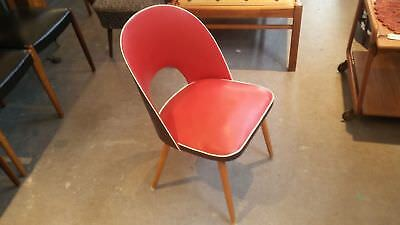 Thonet 50er The 60er Chair Chair Cocktail Chairs Mid Century Red Vintage