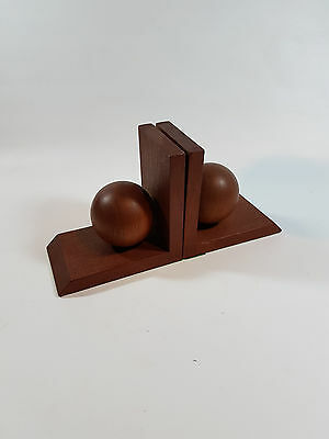 Book Support Teak Rosewood Bookend Vintage Rockabilly Mid Century