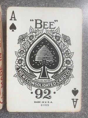 vintage GREAT MOGUL 533 playing cards BEE 92 New York Consolidated USPCC c 1942