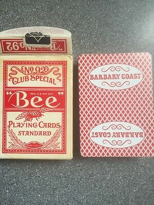 BARBARY COAST HOTEL CASINO cambric finish playing cards BEE Club Special 92