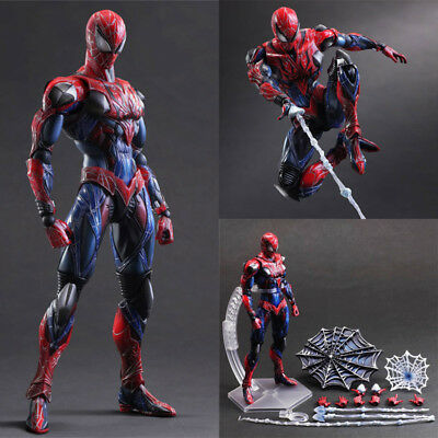 """10"""" Avengers Spider-Man Action Figure Play Arts Kai Collection Toy Gift In Box"""