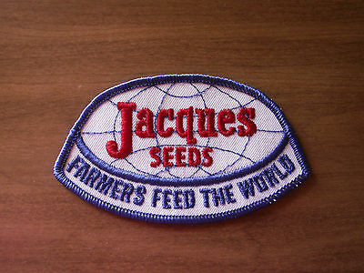 "Jacques Seeds ""Farmers Feed The World"" Original Patch 3 1/4"" X 2 1/2"" NOS"