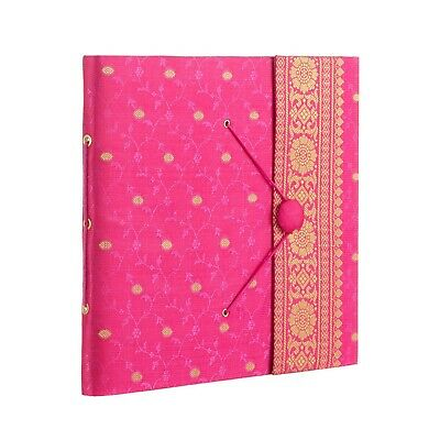 Fair Trade Handmade Large Sari Photo Album Cerise