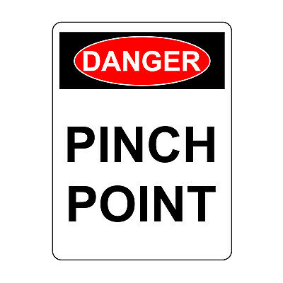 Danger Pinch Point Hazard Sign Aluminum Metal Safety Warning UV Print Signs