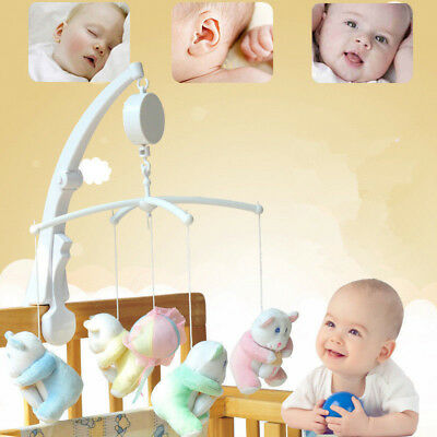 Bed New Movement Pull Crib Baby Infant Box Mobile Kids Rotary Music Bell Cord
