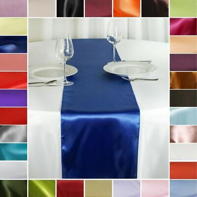 """10 pcs SATIN 12x108"""" Table RUNNERS Wedding Party Reception Catering Decorations"""