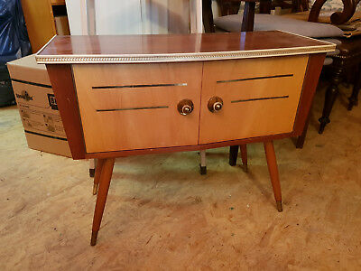 Hallway Dresser 50er The 60er, Side Table TV Wardrobe, Cabinet, Wood Danish