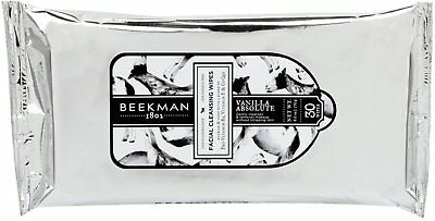 Facial Cleansing Wipes, Beekman 1802, 30 count Vanilla Absolute