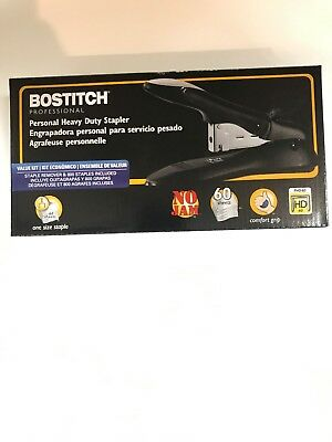 Bostitch Personal Heavy Duty No-Jam  Stapler Value Kit 60 Sheet... Free Shipping