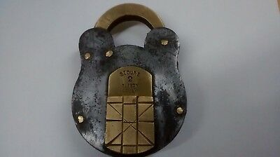 old Antique Padlock brass and steel.