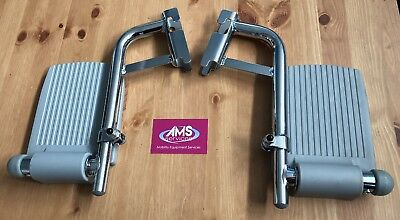 Pair Of Roma Medical & Homecraft Shower / Commode Chair Chrome Footrests - Parts