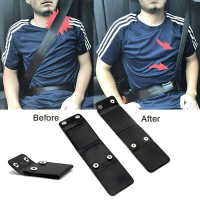 2x Car Seat Belt Strap Adjuster Support Clip Improves Comfort & Safety Aid UK