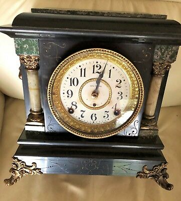 Antique Seth Thomas Clock, 1880, Marble, Working