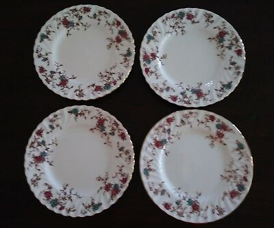 "Minton Ancestral 8"" Side/Salad Plates ~ Set of 4 ~ Wreath Mark~ England"