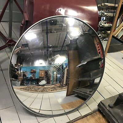 """Used 36"""" Convex Security Driveway Mirror With Bracket In Good Used Condition"""