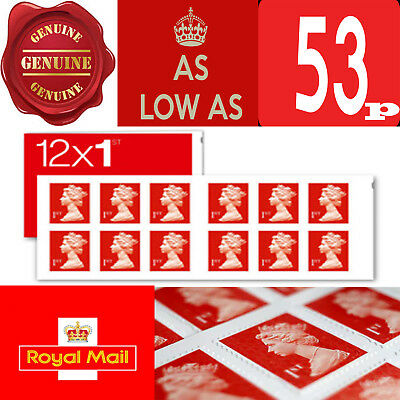 1st Class Stamps First Class Postage Stamps NEW GENUINE Self Adhesive From 53p!!