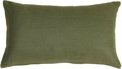 Pillow Decor - Tuscany Linen Fig Green 12x20 Throw Pillow. Free Delivery