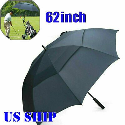 "62"" Automatic Open Golf Umbrella Anti UV Sun Protection Large Oversize Windproof"