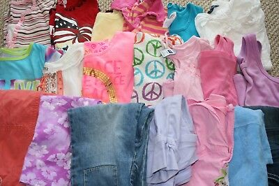 HUGE Girls Clothing LOT of 20 pieces Size 7 7/8 Spring Summer Gymboree GAP TCP