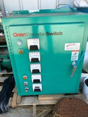 Onan generator with transfer switch