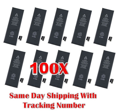 Wholesale Lot 100x 1560mAh Internal Battery Replacement Apple iPhone 5S 5C USA