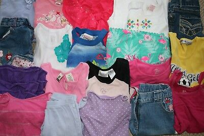 HUGE Girls Clothing LOT of 19 pieces Size 7 7/8 Spring Summer Gymboree TCP more