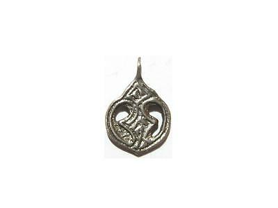 Medieval Viking Silver Pendant Amulet 8th-10th Century AD