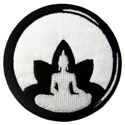 Embroidered Patches Iron Sew On transfers Applique Badges Emblem Buddha Buddhism