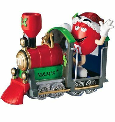 M&M Collectible Christmas Express Train Red Character Figurine Department 56