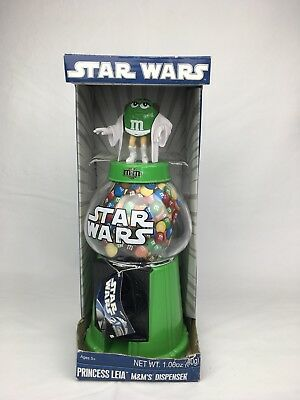 M&M Collectible STAR WARS Princess Leia Green Character Candy M&M's Dispenser