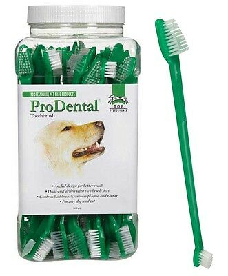 Top Performance ProDental 50 ct PET Dual End TOOTHBRUSH Tooth brush Mouth Dog