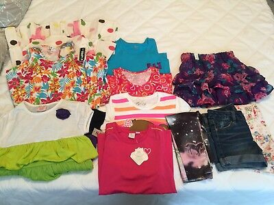 1Girls 7/8 Lot Summer Clothes Justice Cp Gymboree Shorts Tops Dress Skirt Romper