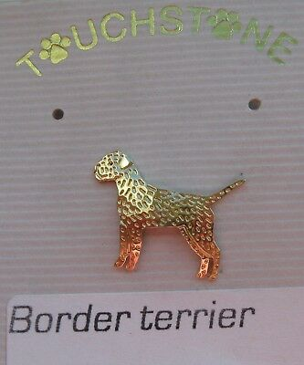 Touchstone jewelry, a Pin for the Border Terrier Fan