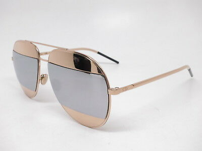 2a71c2e5052c CHRISTIAN DIOR SPLIT 1 000DC Rose Gold with Silver Mirror Sunglasses ...