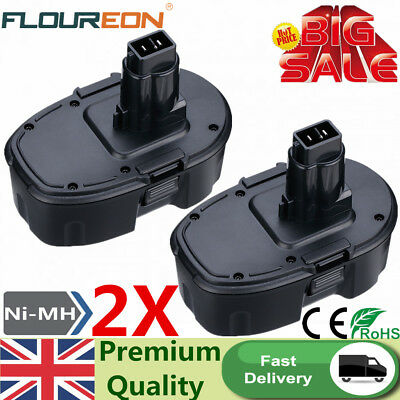 2X 18V 3.0Ah Ni-MH Battery For Dewalt DC9096 DE9039 DE9095 DE9096 DE9098 DE9503