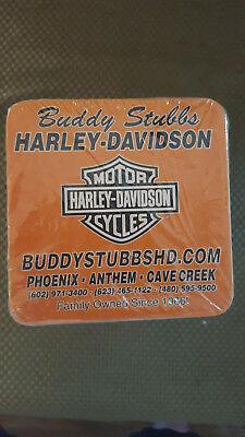 Buddy Stubbs Harley Davidson Motor Cycles Coasters Pack Of 10 - New