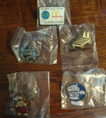 Mcdonalds Hat or Lapel Pins - Lot of 5: Includes McFlurry and New Horizons