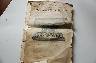 Antique Crandall Visible Number 4 Typewriter And Case