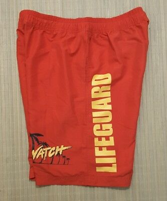 ab968574eb Licenced Swim Shorts Swimwear, Surfwear & Wetsuits Baywatch Contrast  Red/Navy Sports & Outdoor Clothing