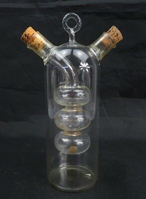 "Antique Medical Apothecary Science glass Alambic chemical bottle 7"" 1/2 high"