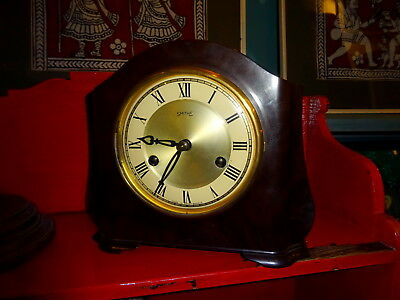 An Art Deco Smiths Bakelite 8 day Mantel Clock