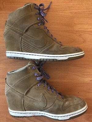 factory price 0f690 43157 Nike Dunk Sky Hi Womens Suede Wedge Shoe Filbert Bamboo Size 9.5 528899-201
