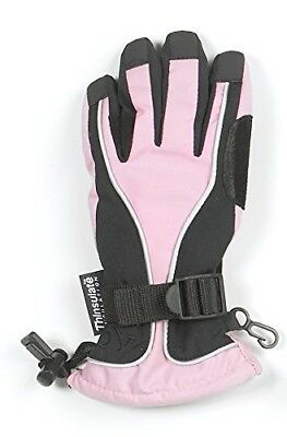 (Large, Pink/black) - Ovation Extreamer Snow Gloves- Unisex. Delivery is Free