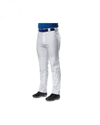 (X-Large, Grey|Navy) - A4 Youth Pro Style Piped Baggy Baseball Pants. Brand New